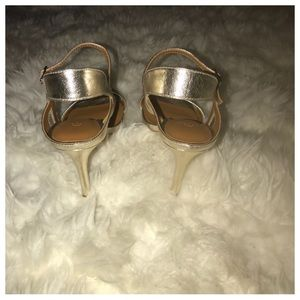 H by Halston Shoes - 🔥NWT Halston Heritage Ainsley Gold Leather Sandal 19bec48406ce1